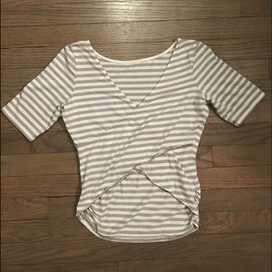Guess Grey & White Dress Tee